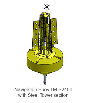 Navigation-Buoy-TM-B2400 with Steel Tower section