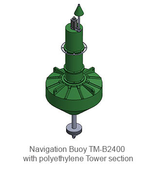 Navigation-Buoy-TM-B2400 with polyethylene Tower section