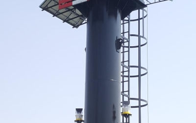 Design, Supply and Commissioning of solar powered 5 degree Port Entry Light ( Sealite PEL5) and tower structure