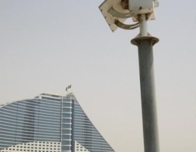 Installation of breakwater entrance navigational lights