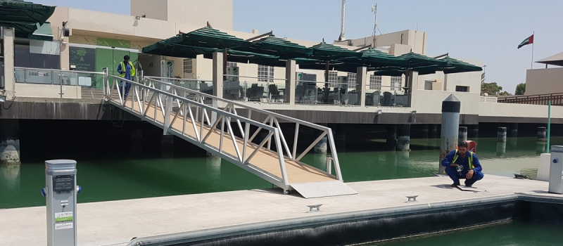 Installation of new service pedestals  at Al Gurm, Abu Dhabi