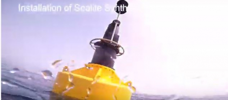 Newly deployed Sealite Navigation Buoys with Sealite Synthetic Mooring Strop System