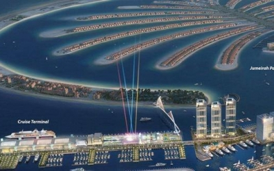North West Marine with the support of Sealite awarded the supply and commissioning contract for Dubai Harbour cruise terminal aids to navigation channel