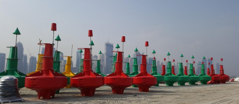 Sealite 2.6m and 3m Atlantic buoys assembled in 24 hours