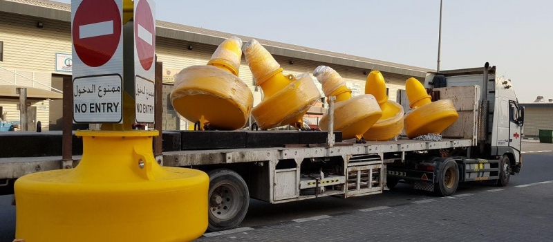 Sealite  SLB1500 Buoys with Mooring system ready for delivery and deployment.