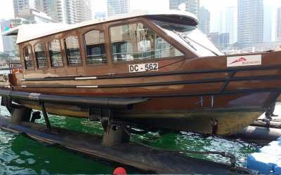 Supply and commissioning of AirBerth Boat LiftsModel M800 for the Roads and Transport Authority in Dubai