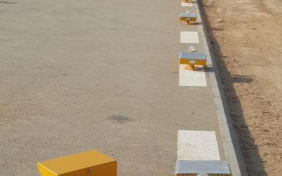 Supply and installation of Avlite Systems solar powered helipad lights in Saudi Arabia