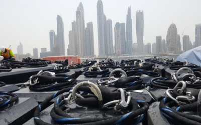 Supply of Sealite Synthetic Mooring Strops for navigation buoys